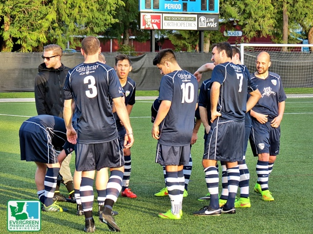 The South Sound FC Shock had chances to beat the PDL Kitsap Pumas on Wednesday. The match ended in a 1-1 draw. (David Falk)