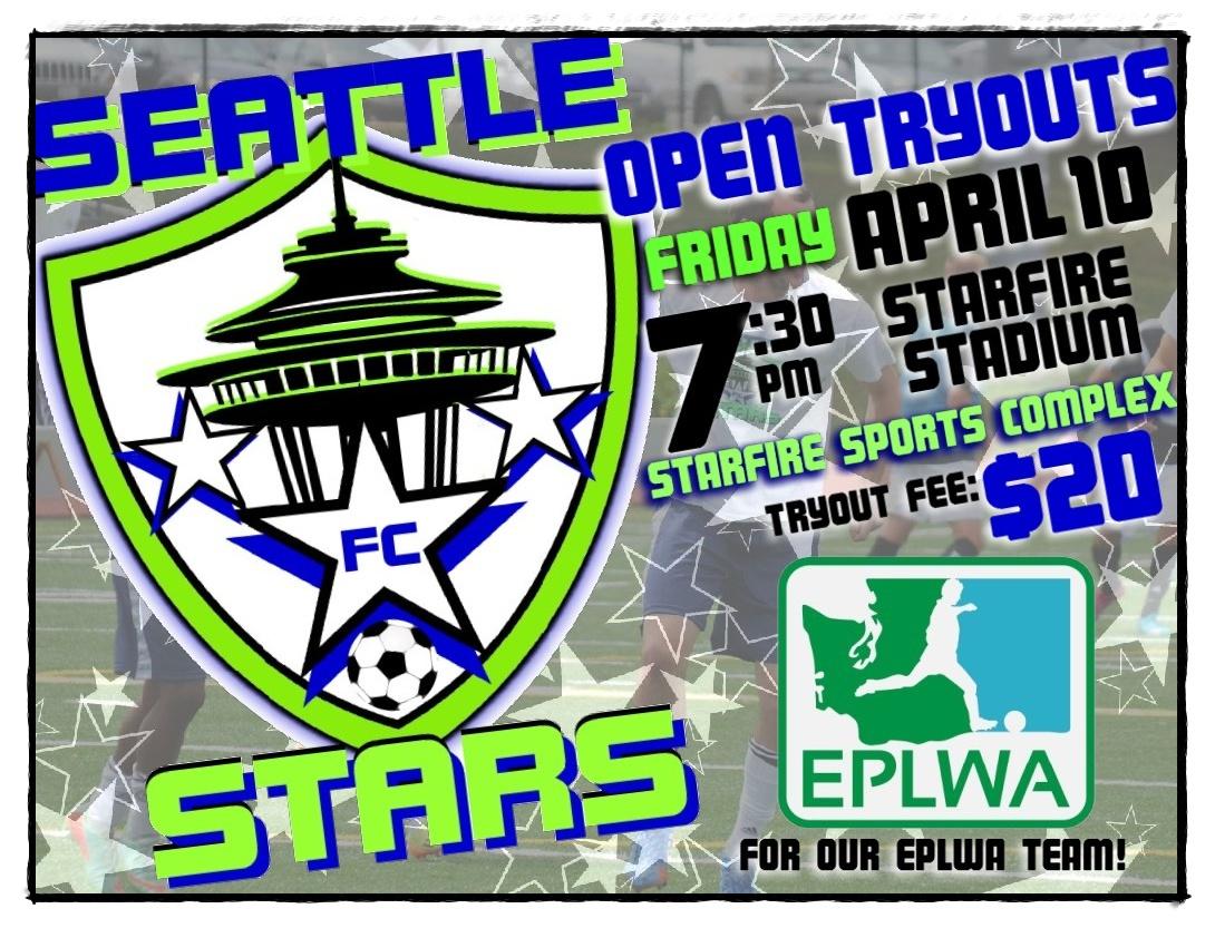 Seattle Stars holding EPLWA open tryouts Friday night atStarfire