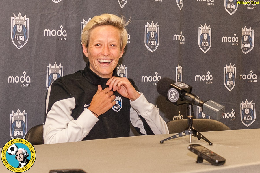 Rapinoe named NWSL Player of Week for 3-goal match