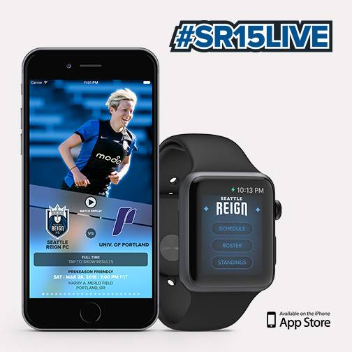 Seattle Reign Gives Fans Free Access To Live Matches via iPhone and Apple WatchApp