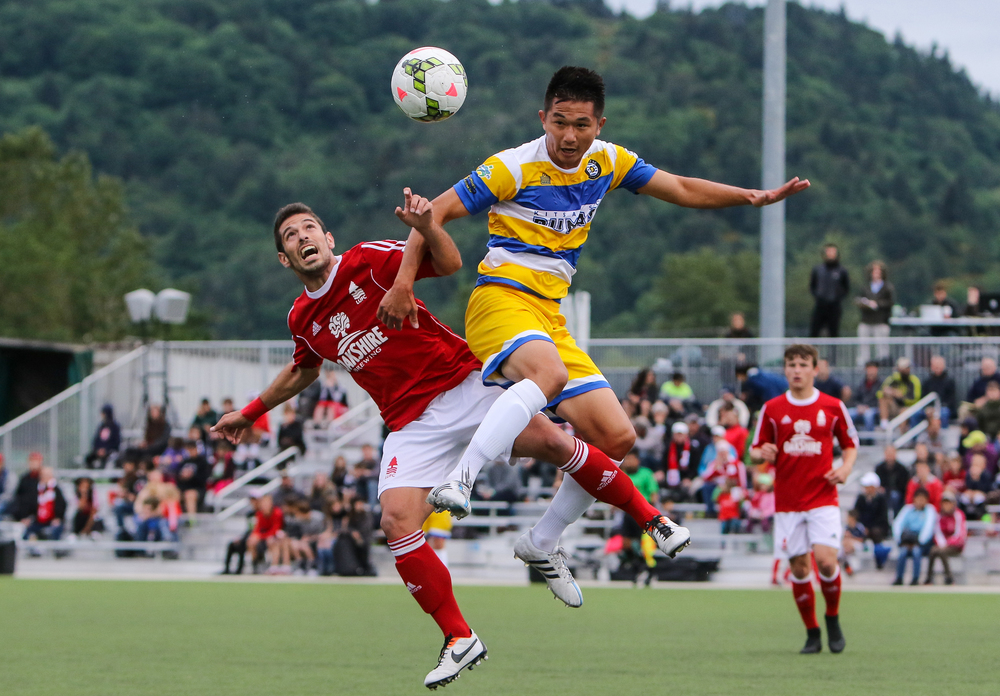 Lane United FC takes on the Kitsap Pumas on May 16, 2015. The Reds fall 2-0 in their first home match of the PDL season. (Copyright 2015, John D. Sperry)