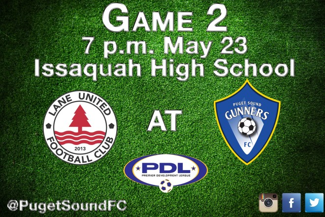 Gunners host PDL home opener May 23 at Issaquah HighSchool