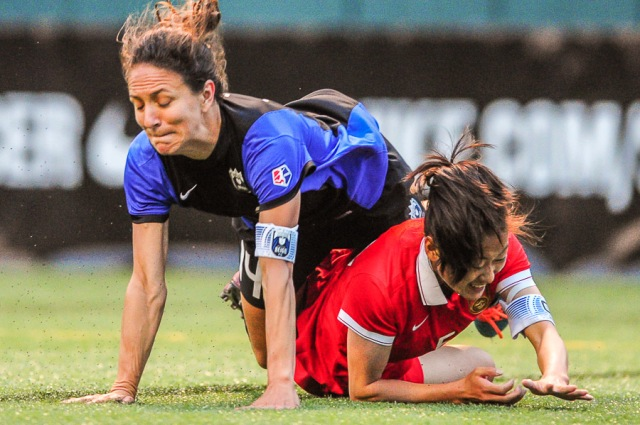 Seattle Reign FC hosts China Women's National Team at Memorial Stadium, Seattle, Wa. on May 22, 2015