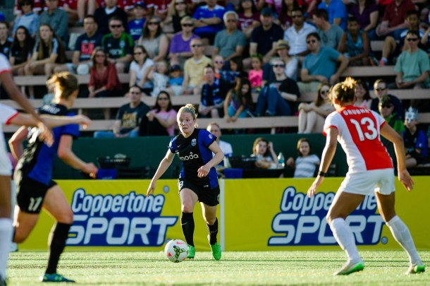 Kim Little with the ball. (Reign FC photo)