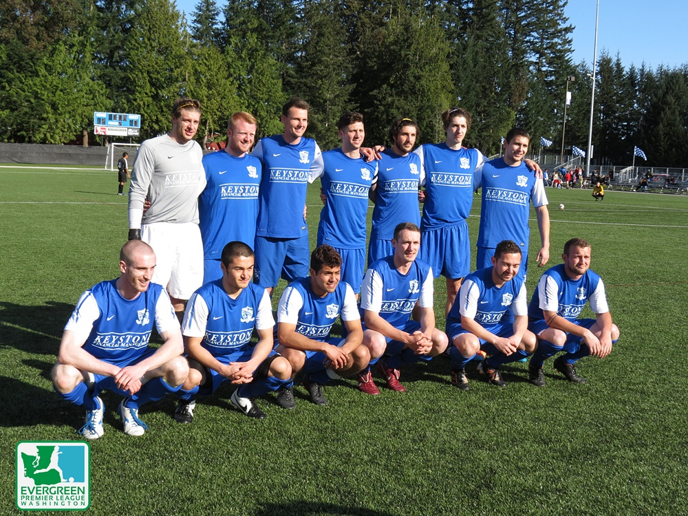 The first official appearance of the outdoor Olympic Force came at a Kitsap Pumas pre-season tournament. (David Falk)