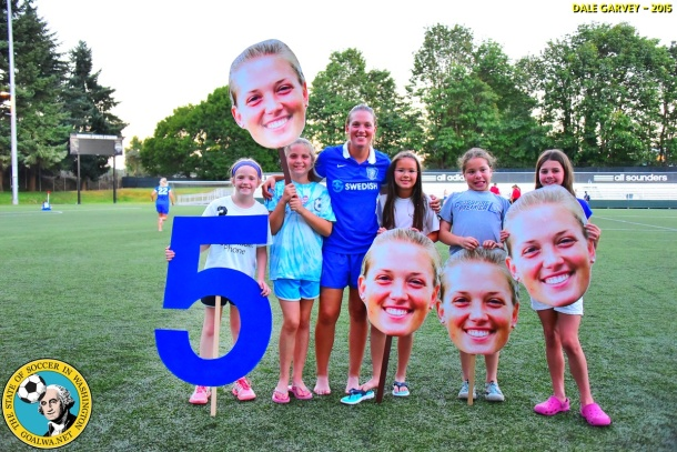 Five has fans: ISC Gunners player Erin Vaughan has her own fan club. (Dale Garvey)
