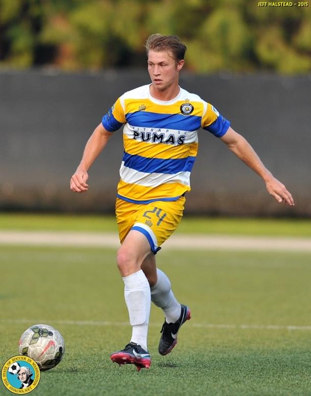 Logan Miller scored Kitsap's goal. (Jeff Halstead)