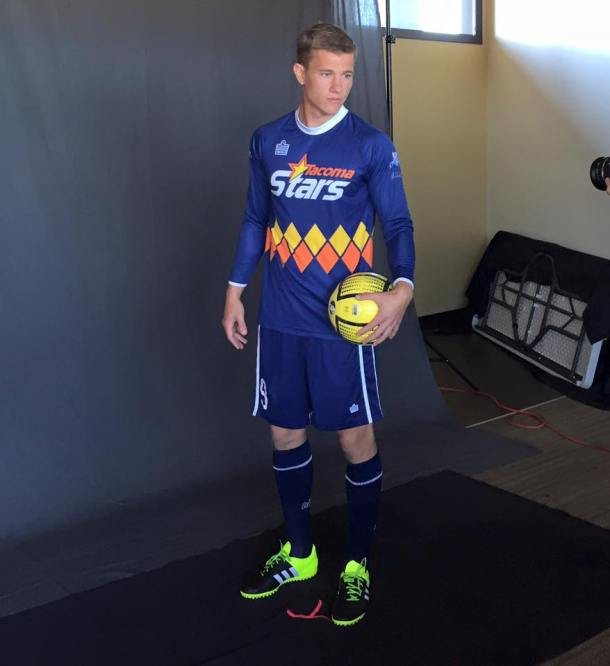 Not a hint: Tacoma native Derek Johnson was signed by the Stars for the 2015-16 MASL season. (Facebook)