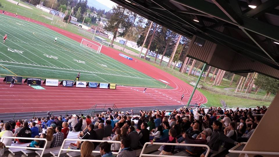 Vancouver Victory FC had this crowd of 588, but overall they dropped a bit in 2015. (Facebook)