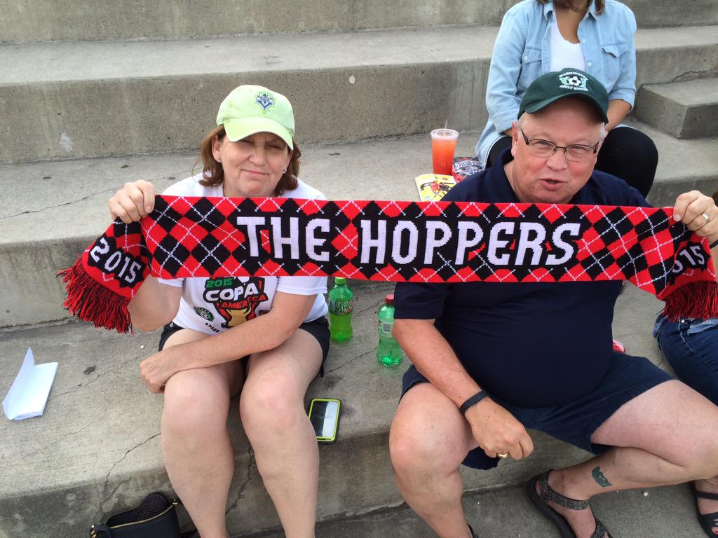 Yakima United FC was up by two fans per match in 2015. These two helped. (Facebook)