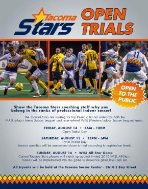 Tacoma Stars Announce 2015 Open Tryouts