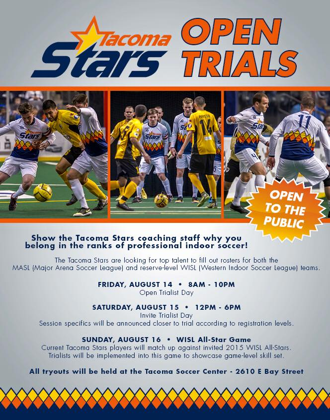 Tacoma Stars Announce 2015 OpenTryouts