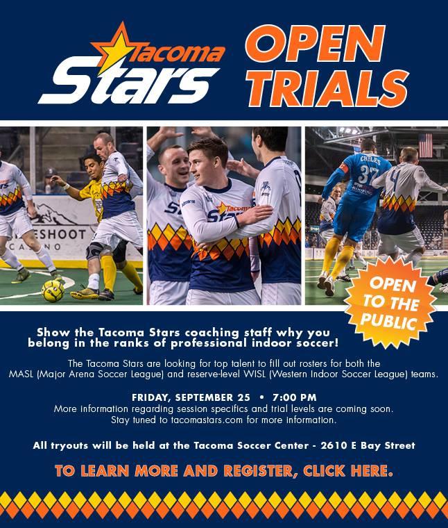 Trials continue in Tacoma Stars talentsearch