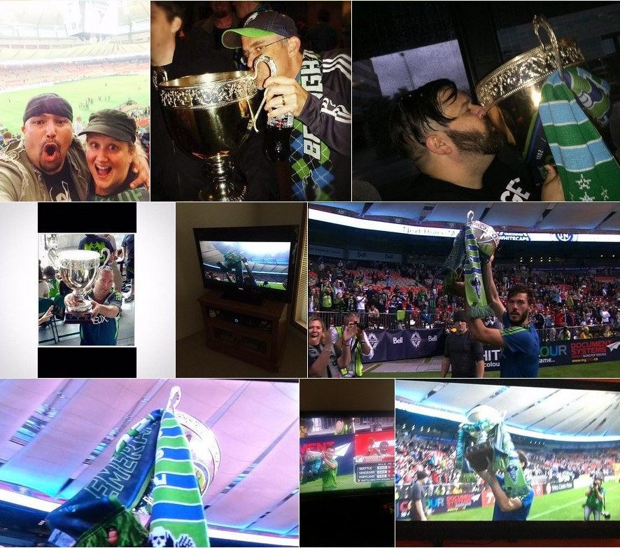 Sounders supporters took to Twitter to share their photos from Vancouver.