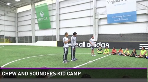 Video Buzz: Sounders meet kids at Health Camp