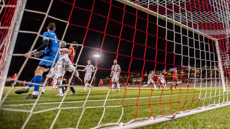 Seattle University men's soccer defeats University of Washington 2-1 at Championship Field on September 24, 2015.