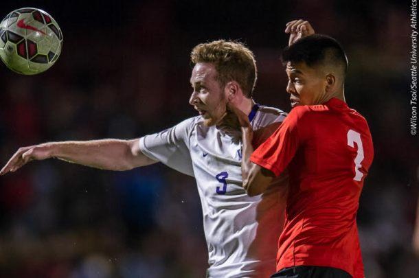 Seattle University men's soccer defeats University of Washington 2-1 at Championship Field on September 24, 2015.