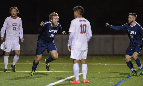 Pederson wins it for Vikings in overtime. (WWU photo)